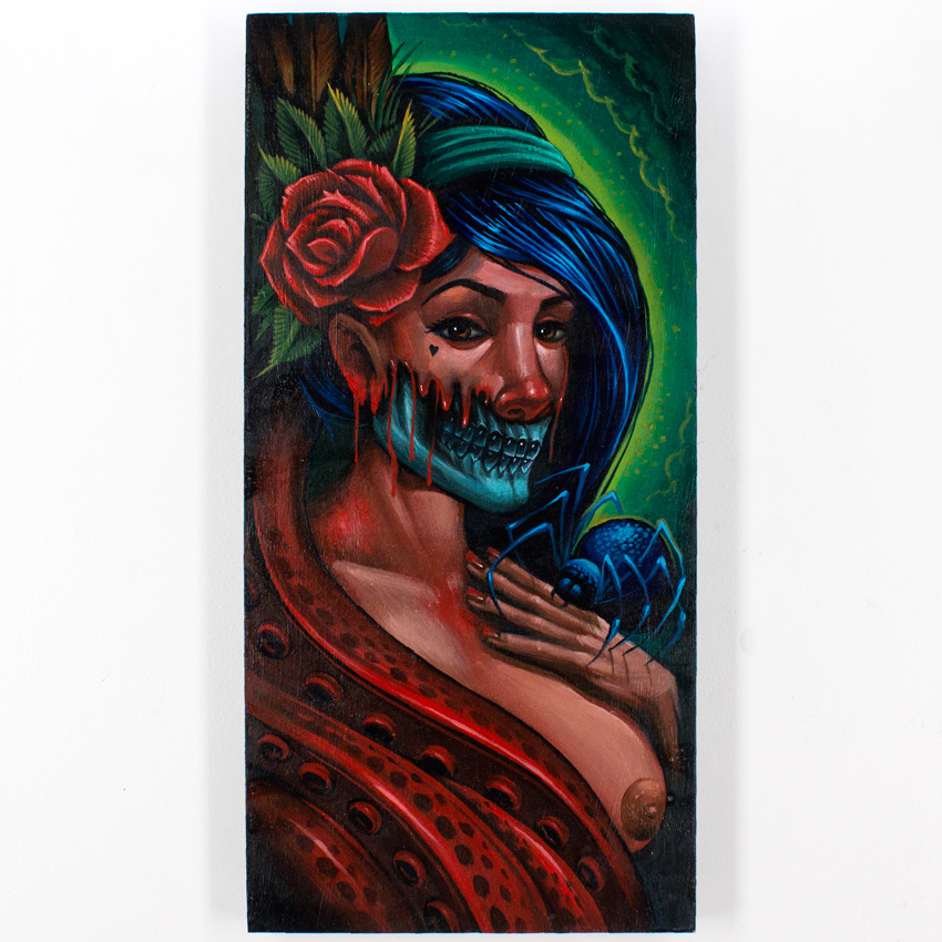 18. Maxx242 Here Need name 12x24 Acylic on Cradled Wood Panel $800 -  Inquire  - Purchase directly on 1xRUN