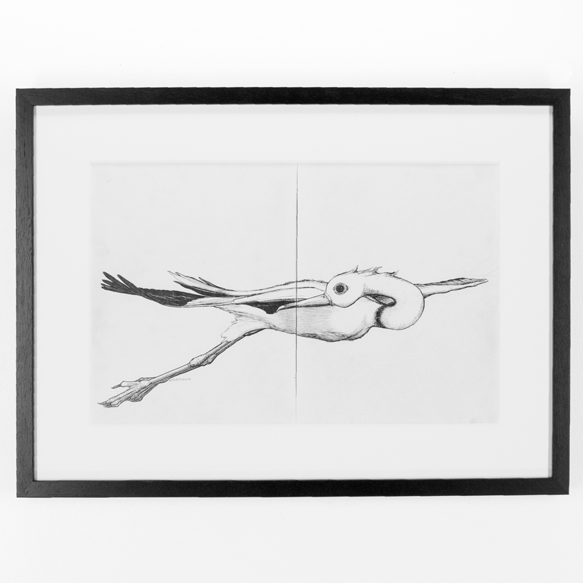 32. Ryan Doyle #babymommabecoming 27.5x20.5 Ink on Paper - Framed $500 -  Inquire  - Purchase directly on 1xRUN