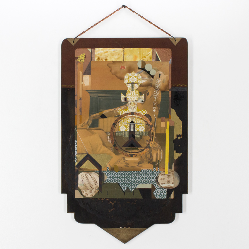 42. Monica Canilao Dream Weaver 15x25 Collage on Wood Panel $2,400 -  Inquire  - Purchase directly on 1xRUN
