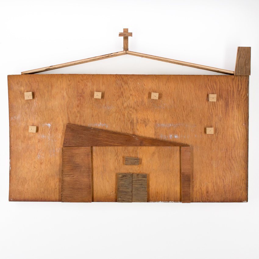 59. Zak Meers Foreclosed Church 34x22 scrapped wood $1,000 -  Inquire  - Purchase directly on 1xRUN