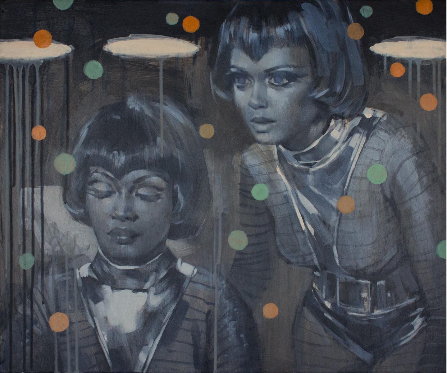 Glenn Barr   Moon Dust   Acrylic on Cradled Wood Panel  24 x 20 x 2 Inches    SOLD