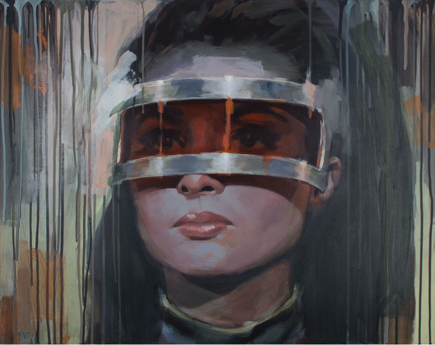 Glenn Barr Saturday's Child  Acrylic on Cradled Wood Panel   24 x 30 x 2 Inches  SOLD