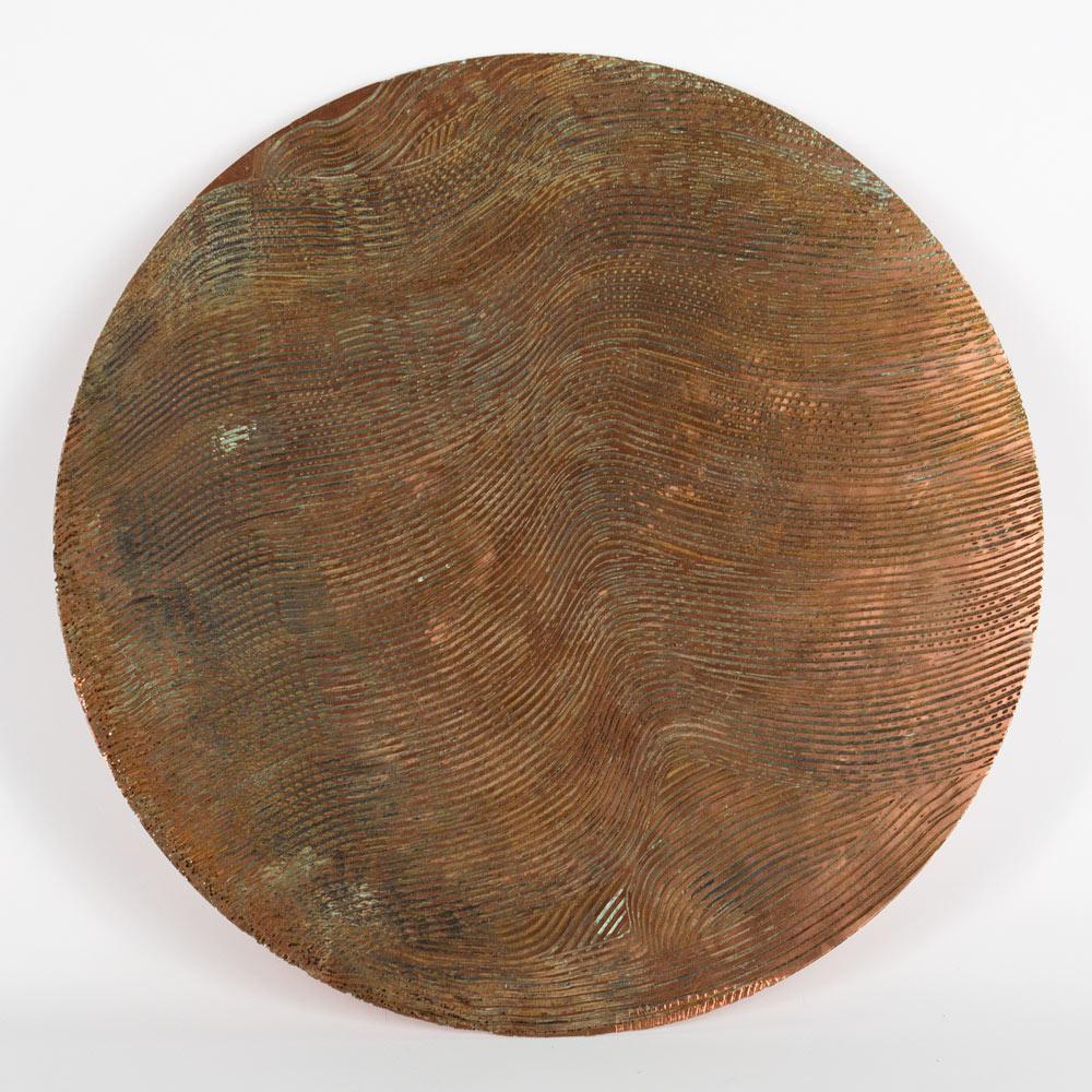 "Desertic Landscape 2016 15.75"" x 16"" Acid on Copper Plate $2,200"