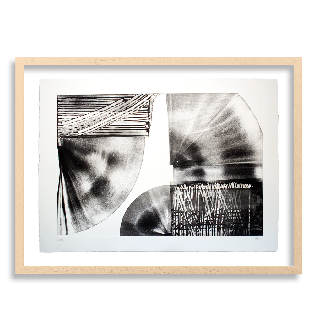 "Motor City Monotype IV   41"" x 29"" Monotype on Arches Cover White 270g. $1,750"
