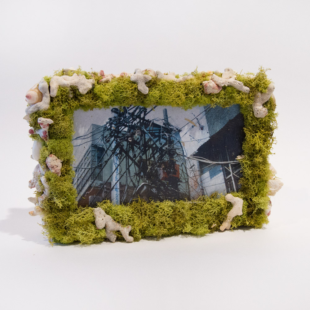 """Only Unfulfilled Love Can Be Romantic 9.5"""" x 6"""" x 2"""" Mixed Media on Technology $380"""