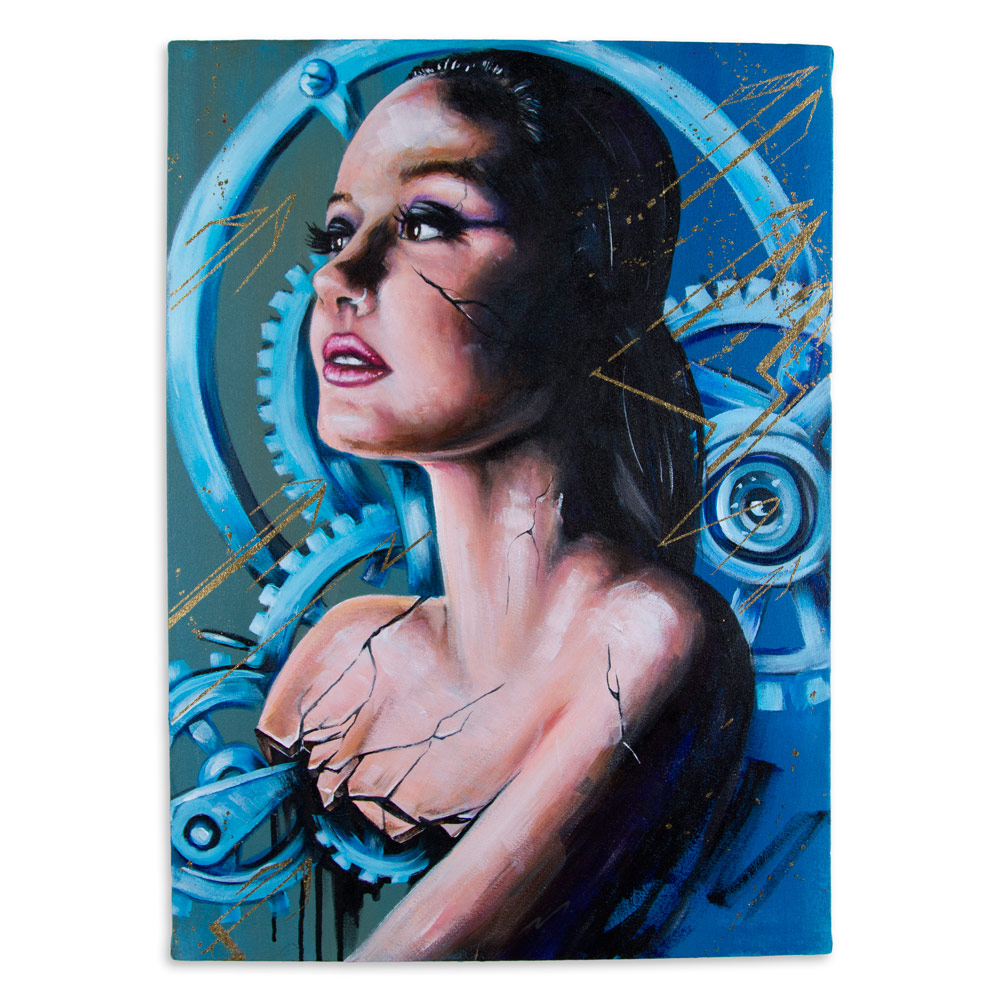 "Breve 18"" x 24"" Acrylic on Canvas $1,200"