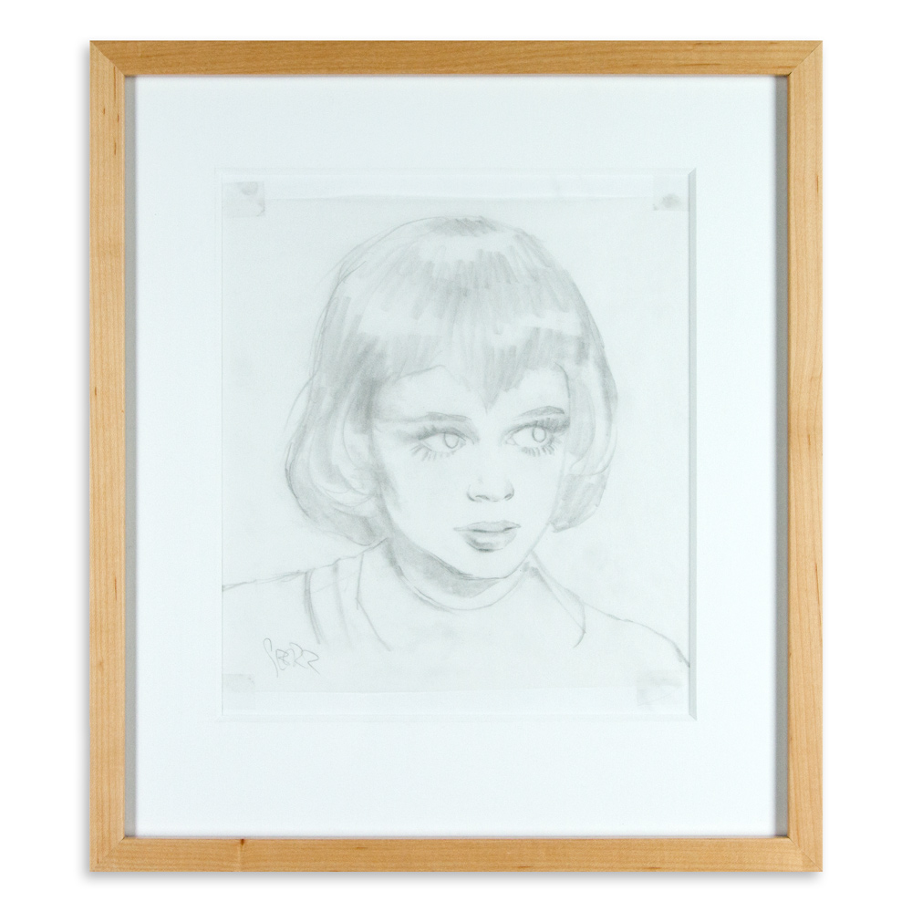 """Moon Girl 2 Study 15.5"""" x 17.5"""" Graphite on Paper SOLD"""