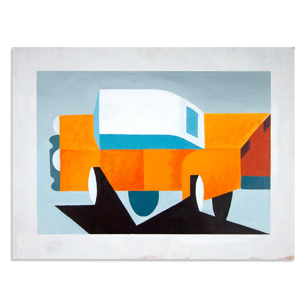 """Dirty Car 21.25"""" x 16"""" Acrylic  $450"""