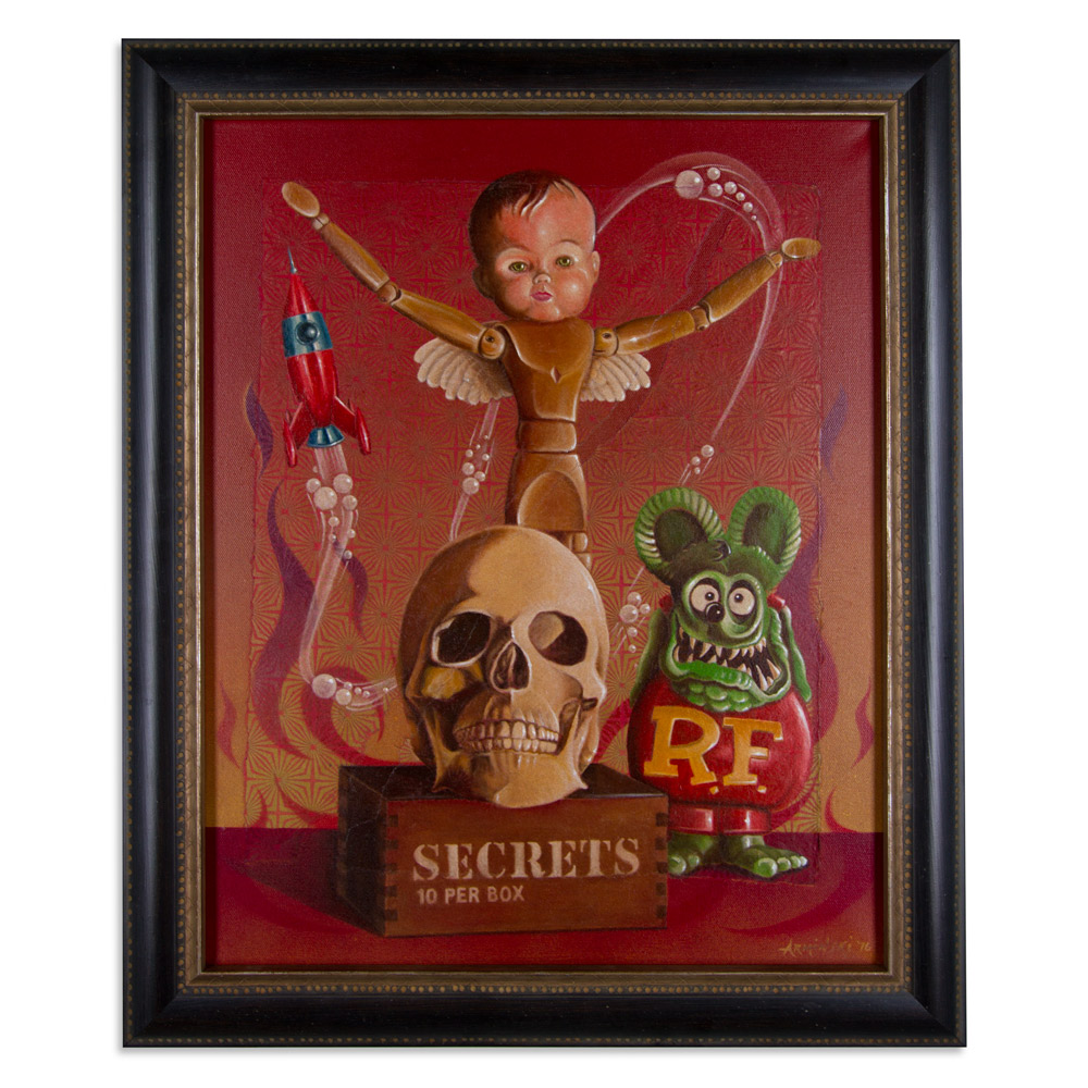 """10 Secrets    22"""" x 24"""" Aqua-Oil  $3,000"""