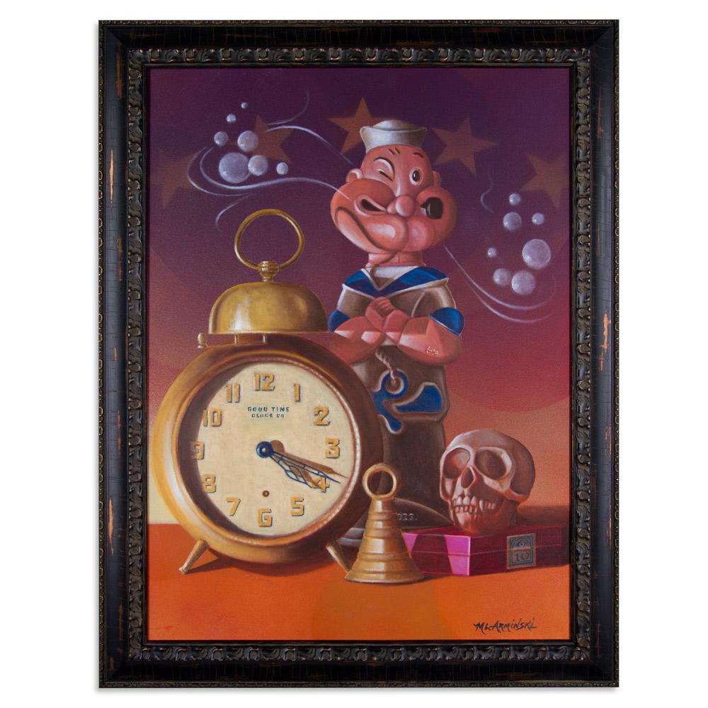 """Good Time Clock Co. 22"""" x 24"""" Aqua-Oil $3,500"""