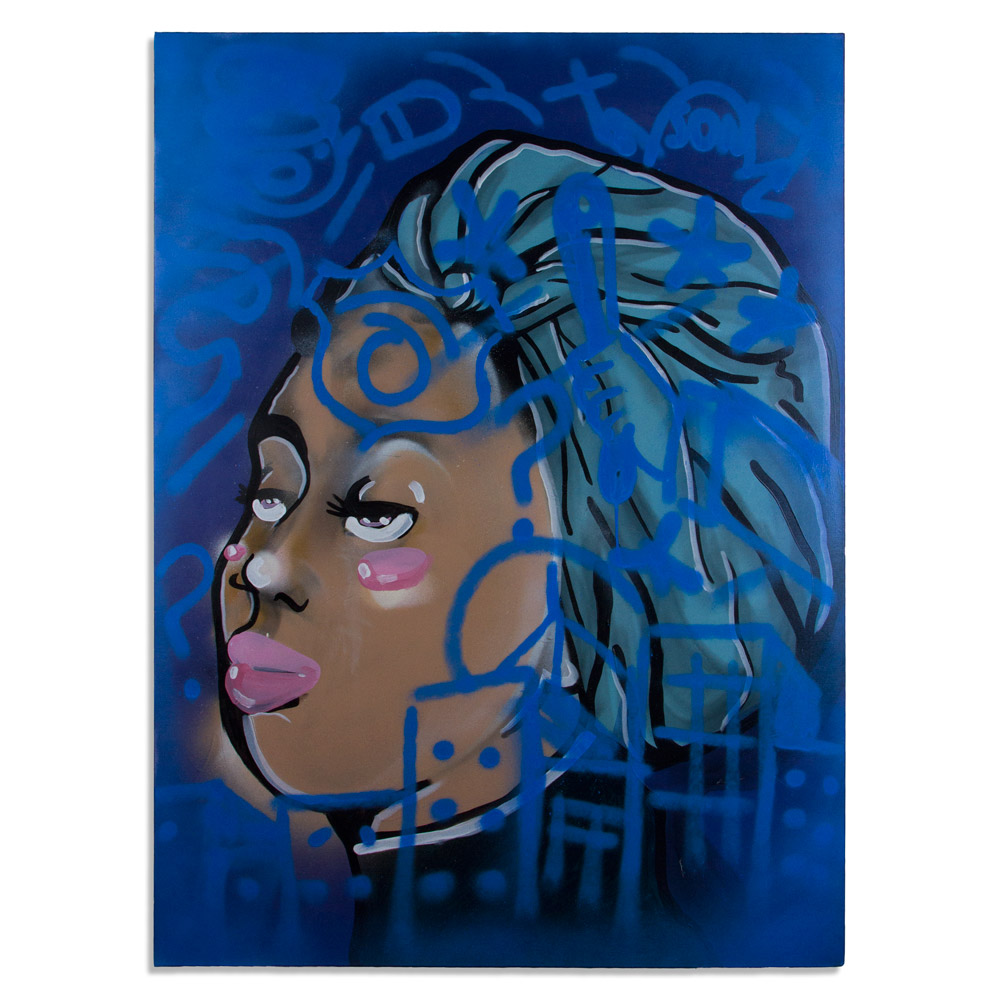 """MUM 48"""" x 60"""" Acrylic and Spray Paint on Canvas SOLD"""