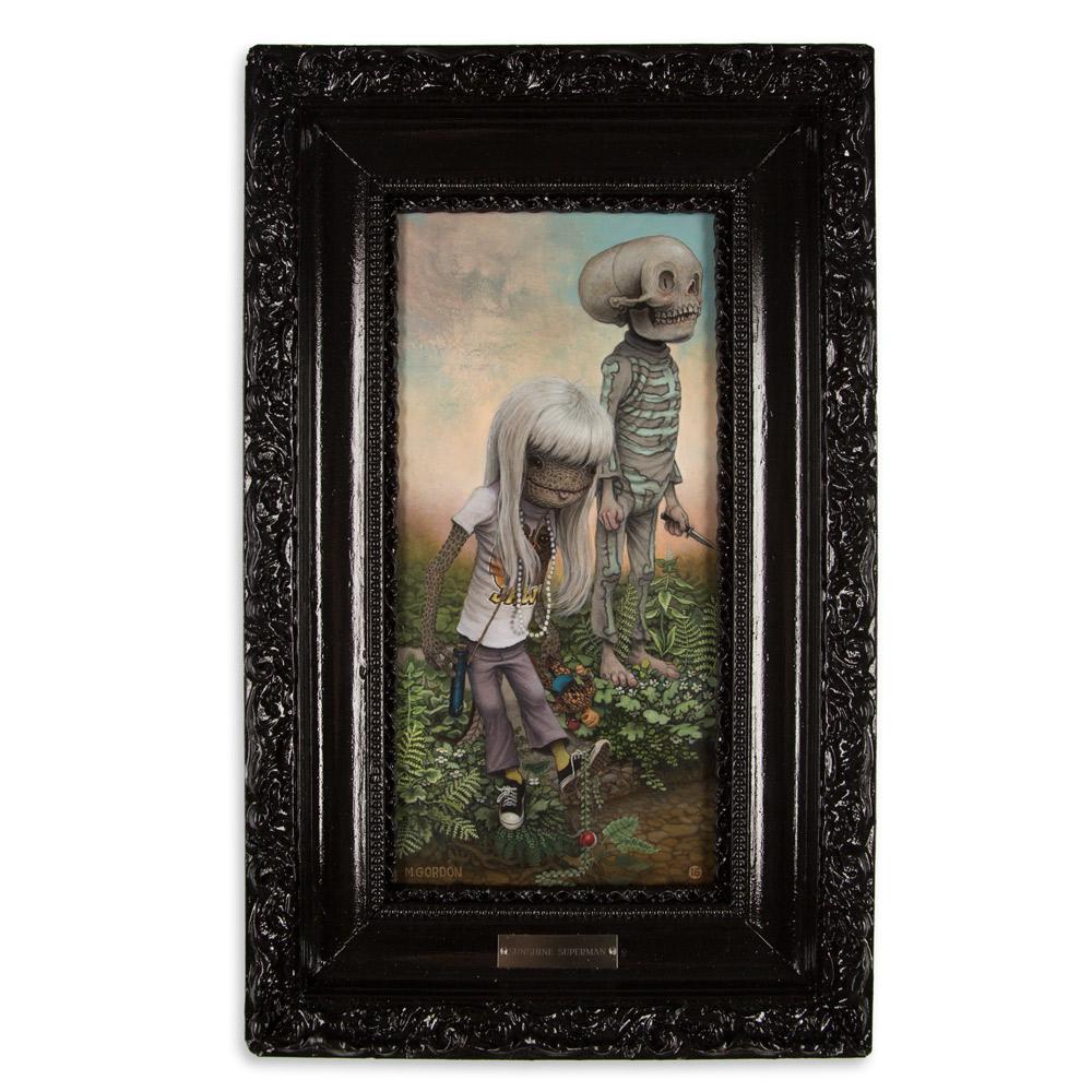 "Sunshine Superman 13.5"" x 22"" Acrylic on Canvas $2,800"