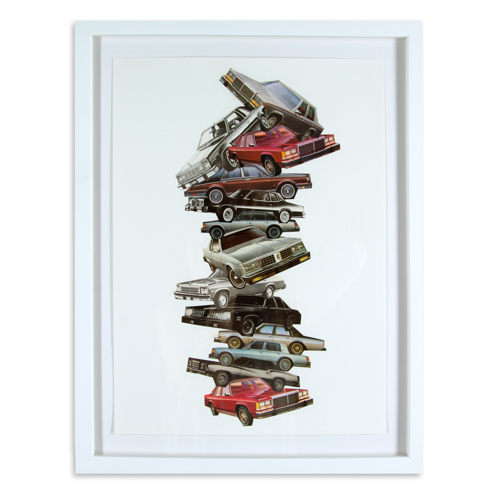 """Car Pile 14"""" x 18"""" Photo Collage SOLD"""