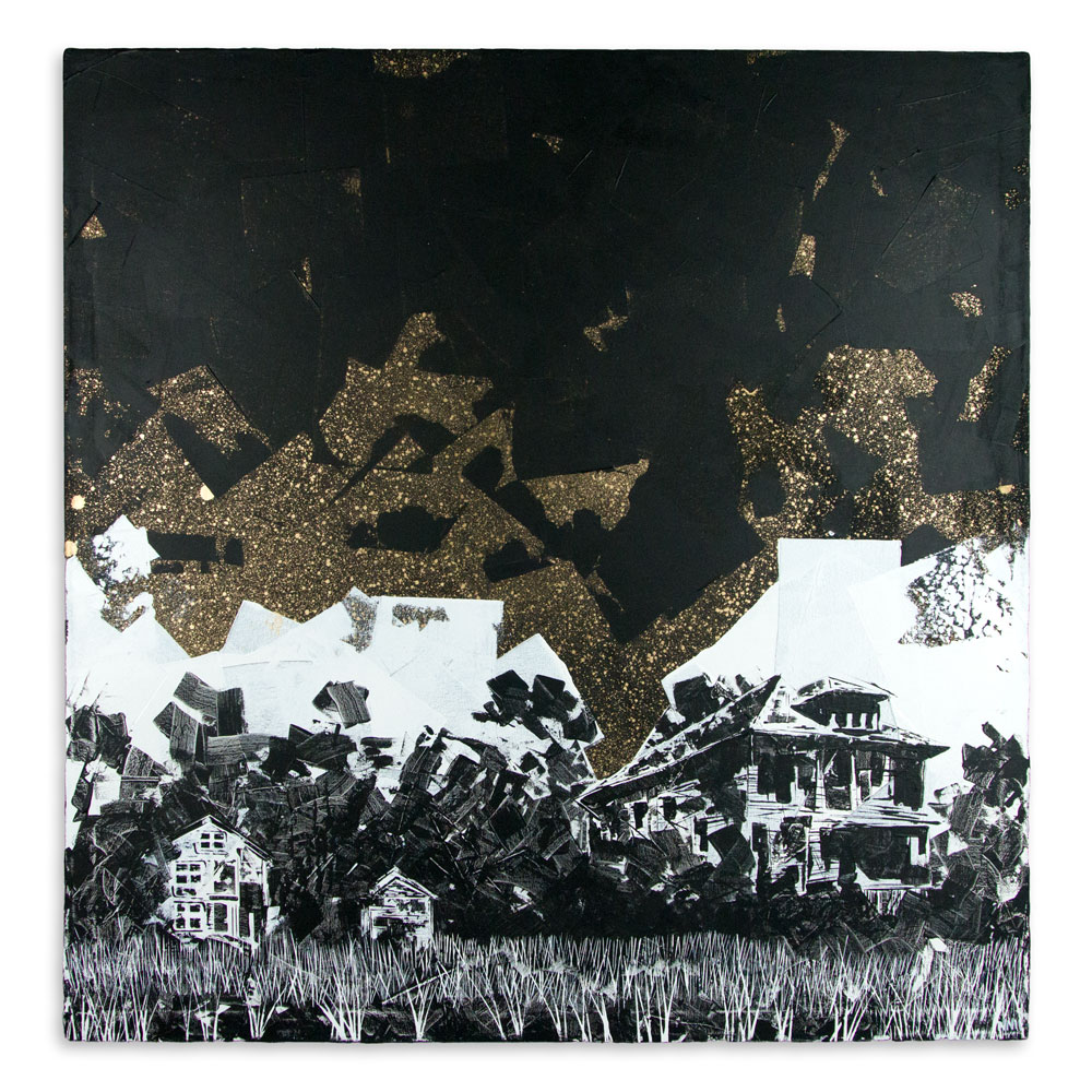 "Zapon   48"" x 48"" Acrylic on Canvas   $3,000"