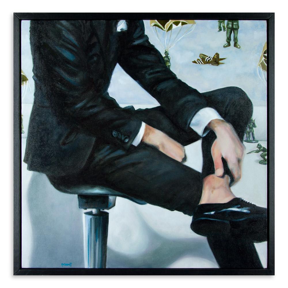 "Reconnaissance Man   24"" x 24"" Oil on Canvas  $1,200"