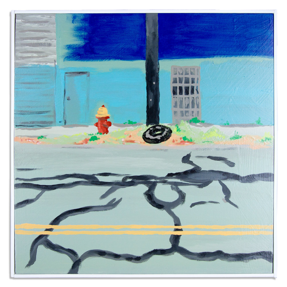 "Reality 18.5"" x 18.5"" Acrylic Latex and Gouache on Canvas $500"