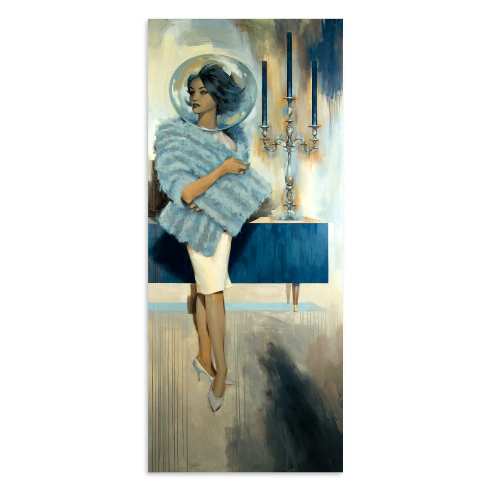"The Odyssey 36"" x 80"" Acrylic on Cradled Wood Panel  $11,500"