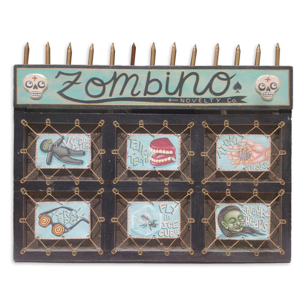 """Zambino Novelty 30.25"""" x 28"""" Mixed Media SOLD"""