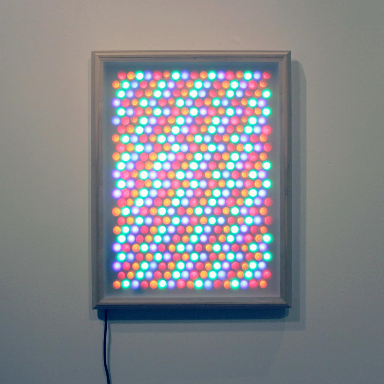 """Rave Queen  36"""" x 28"""" Light Sculpture $1,500"""