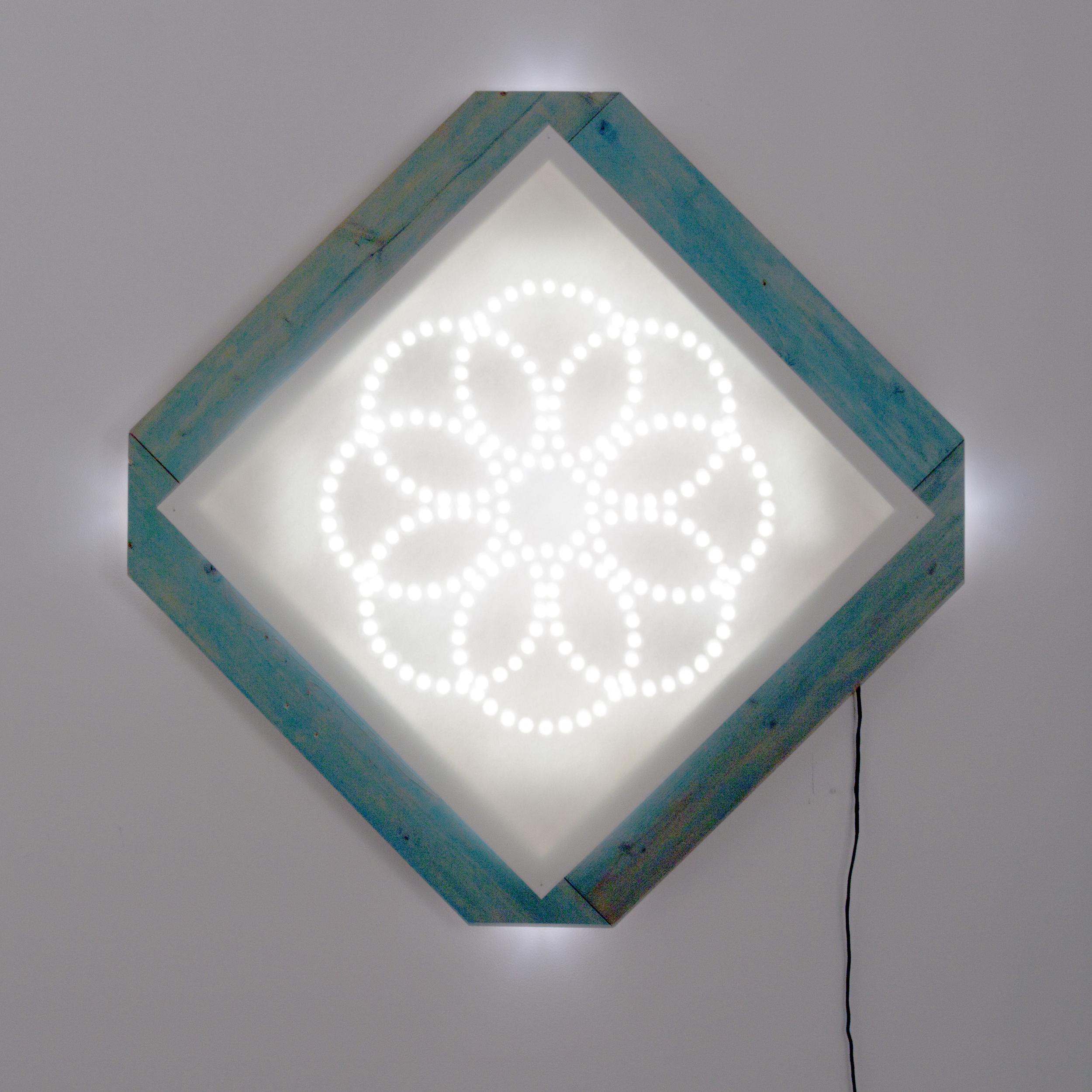 """Bloom 44.5"""" x 44"""" Light Sculpture $2,000"""