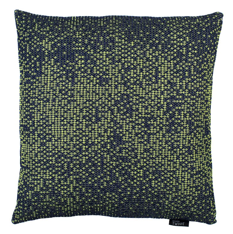 Silicium dark green - cushions 43 x 43 cm     front side: wool 95% silk 5%    back side: navy blue linen 100%