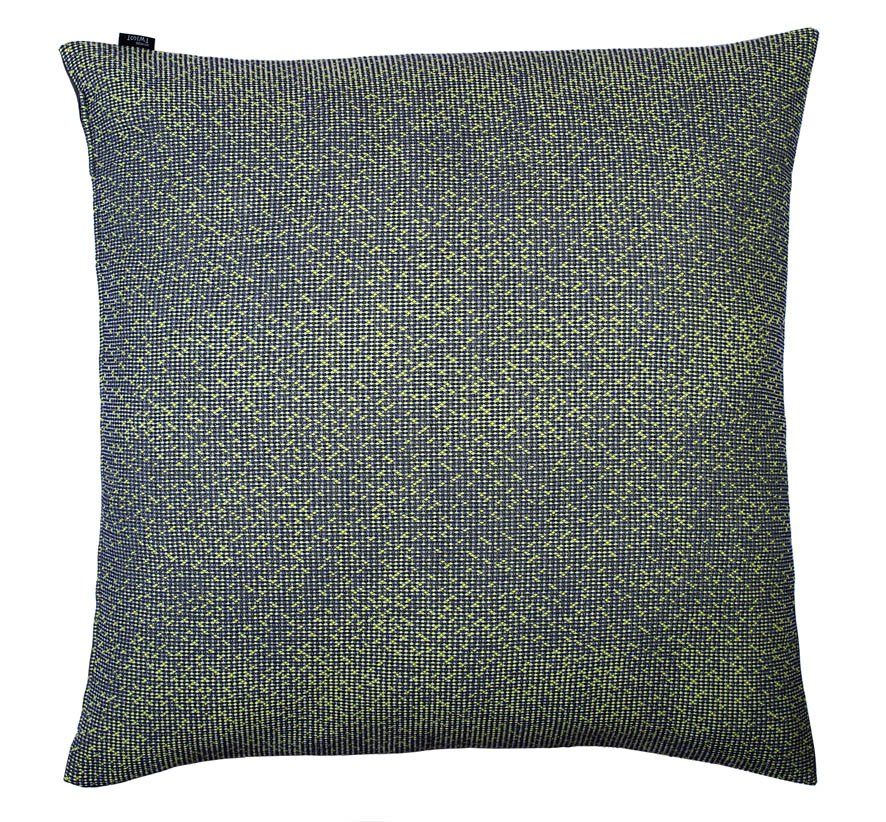 Silicium pastelgreen - f l oor cushion   86 x 86 cm       front side:   wool 95% silk 5%    back side: grey coton 80% polyester 20%