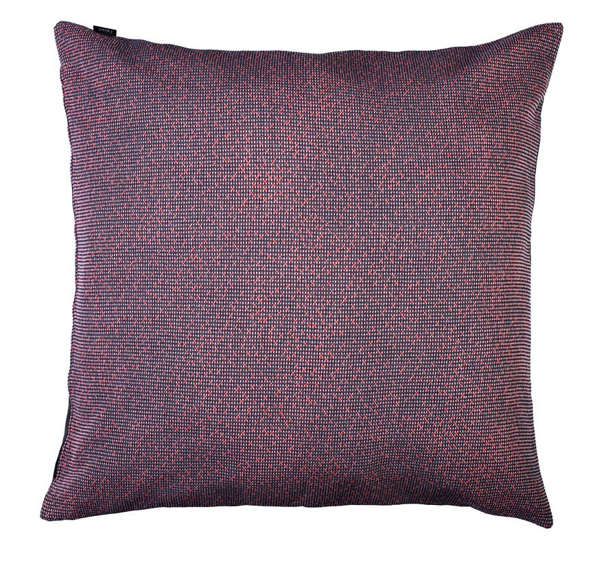 Silicium pastel coral - floor cushion     86 x 86 cm       front side:   wool 95% silk 5%    back side: grey coton 80% polyester 20%
