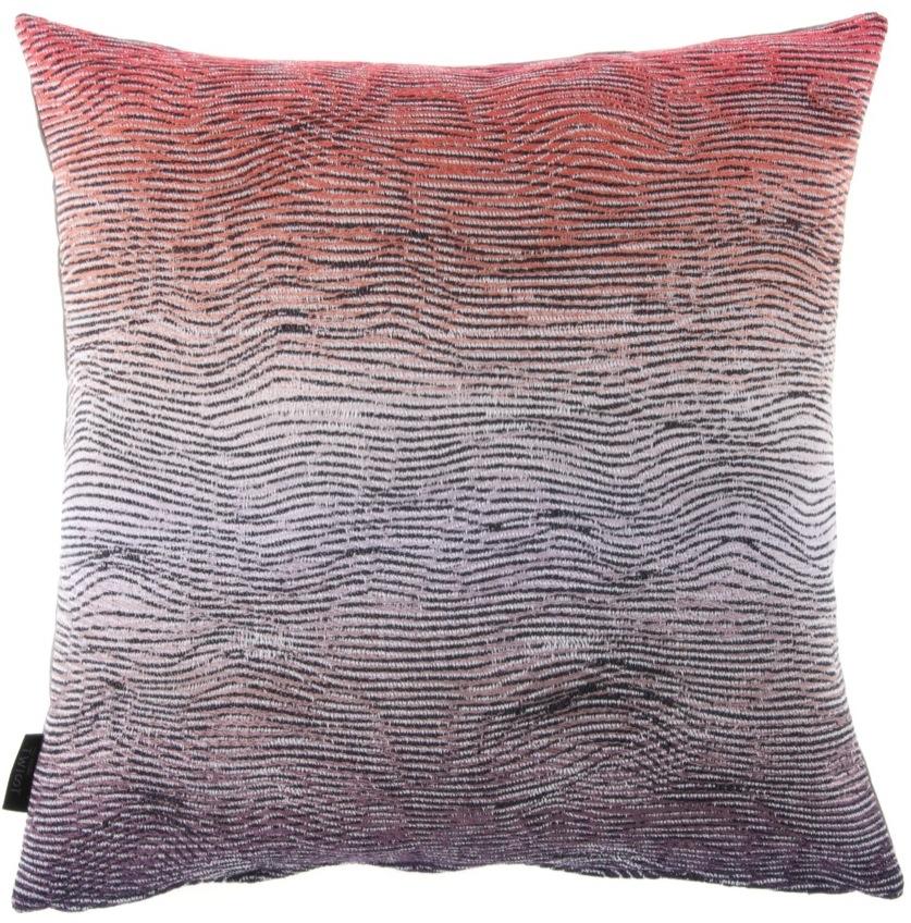 Lazure/orange - cushion 46 x 46 cm  front side:95% wool 5% silk  back side: dark grey linen 100%
