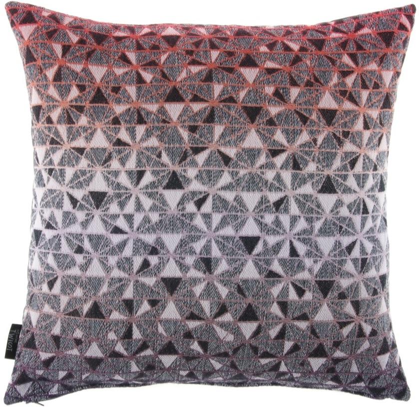 cosmogony/orange - cushion 46 x 46 cm  front side:  95% wool 5% silk   back side: dark grey linen 100%