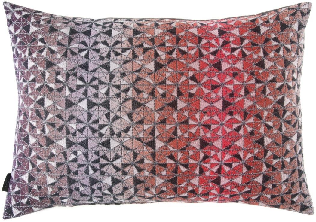 cosmogony/orange - cushion 46 x 70 cm  front side: 95% wool 5% silk   back side: dark grey linen 100%
