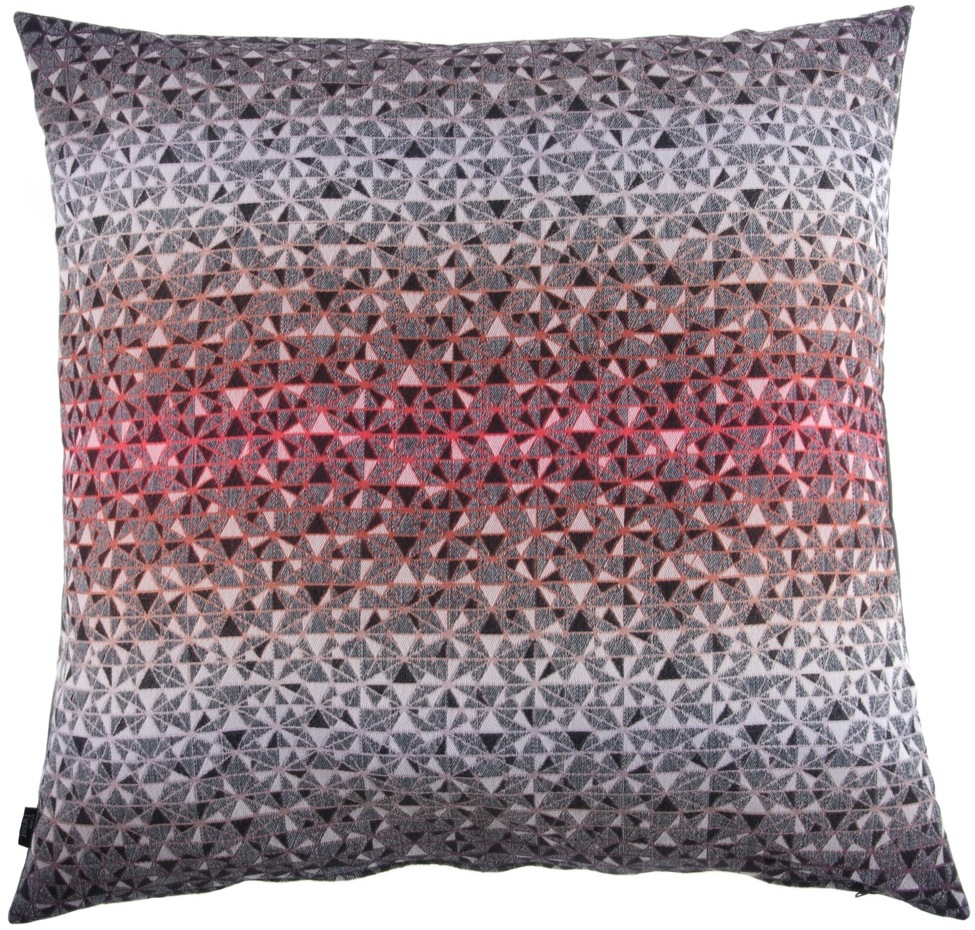 cosmogony/orange - floor cushion 90 x 90 cm  front side:  95% wool 5% silk   back side: dark grey coton 80% polyester 20%