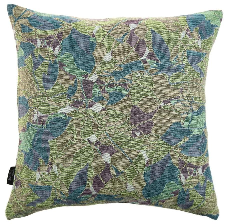 Feuillage/green - cushion S ≅ 45 x 45 cm  Composition: jacquard woven fabric 94% wool 6% silk