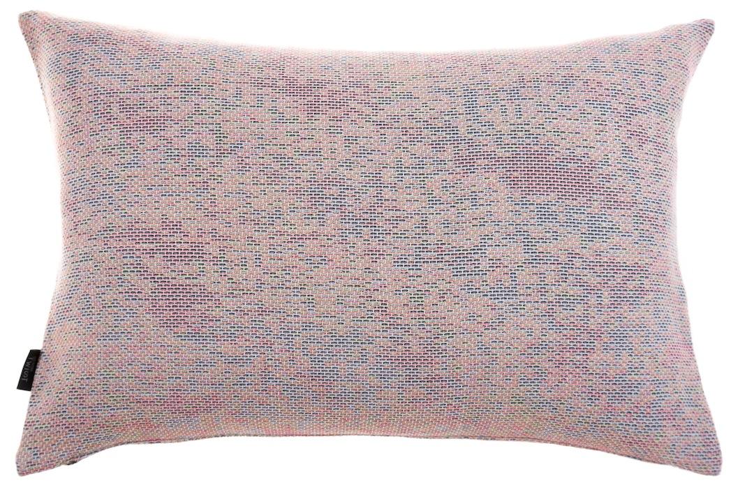 Reflet/ pastel orange - cushion M ≅ 44 x 69 cm  Composition: woven jacquard 78% wool 16% viscose 6% silk