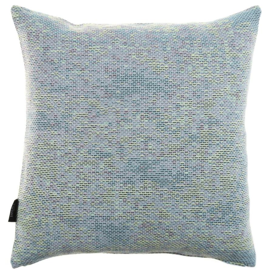 Reflet/ light blue - cushion S ≅ 44 x 44 cm  Composition: woven jacquard 78% wool 16% viscose 6% silk