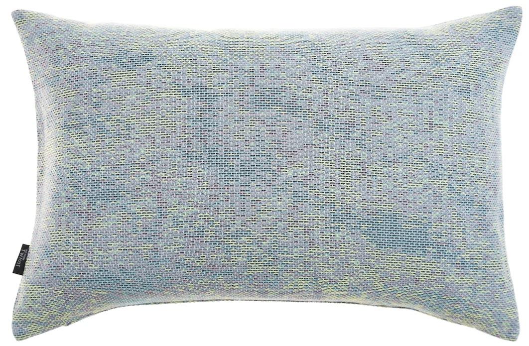 Reflet/ light blue - cushion M ≅ 44 x 69 cm  Composition: woven jacquard 78% wool 16% viscose 6% silk