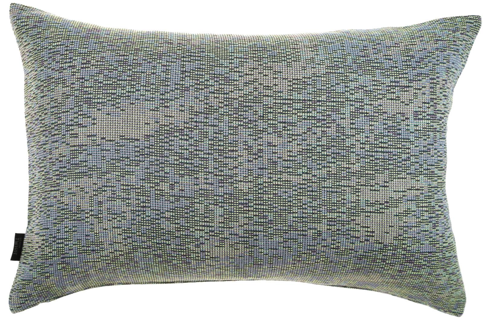 Reflet/ dark blue- cushion M ≅ 44 x 69 cm  Composition: woven jacquard 78% wool 16% viscose 6% silk