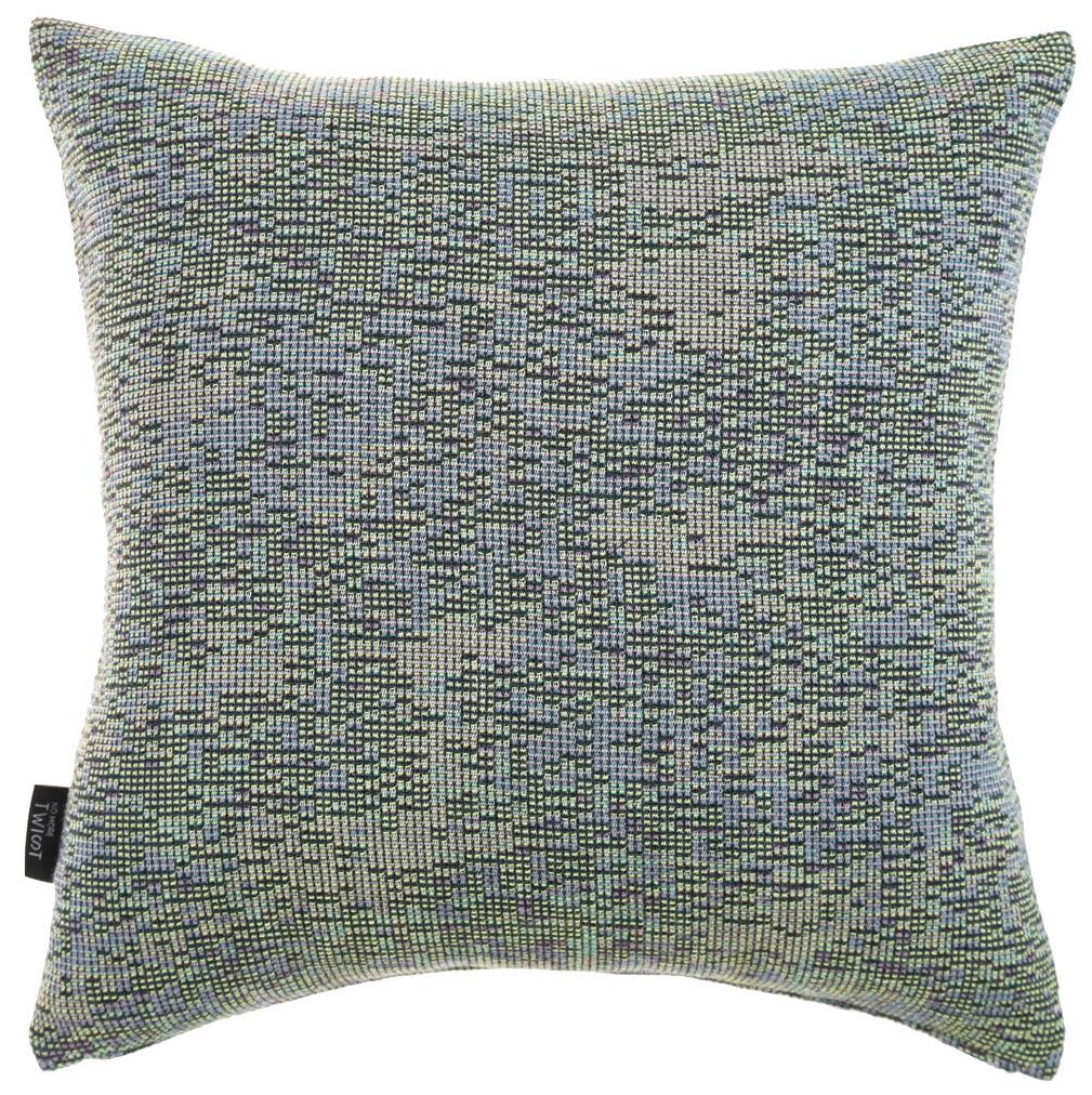 Reflet/ dark blue - cushion S ≅ 44 x 44 cm  Composition: woven jacquard 78% wool 16% viscose 6% silk