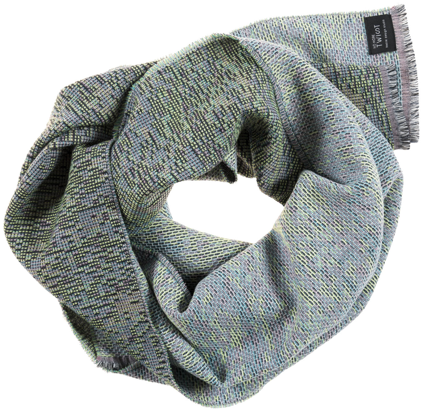 Reflet/ blue - scarf / étole ≅ 45 x 181 cm  Composition: jacquard woven fabric 78% wool 16% viscose 6% silk