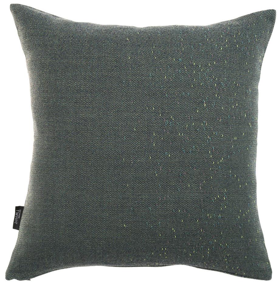 Diffraction/ dark green - cushion ≅ 48 x 48 cm  Composition: woven fabric 95% wool, 5% silk