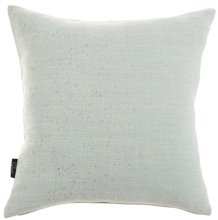 Diffraction/ light green - cushion ≅ 48 x 48 cm  Composition: woven fabric 95% wool, 5% silk