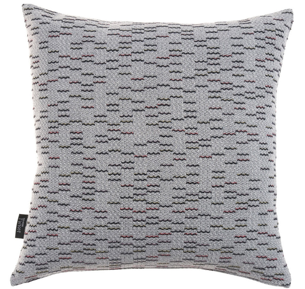Clapotis/grey - cushion S ≅ 44 x 44 cm   Composition: jacquard woven fabric  75% wool 20% viscose 5% silk
