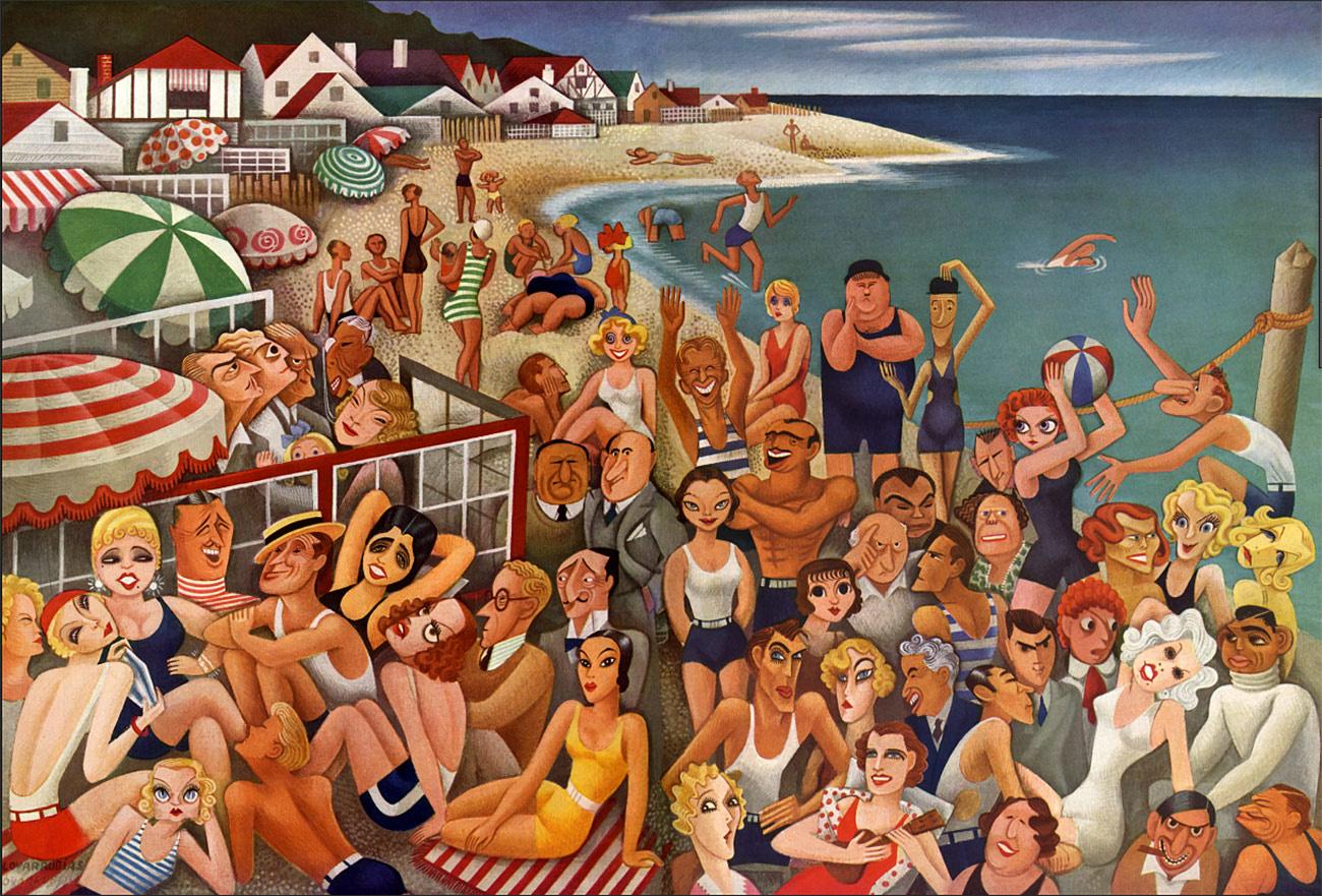 Malibu 1933  by Miguel Covarrubias for  Vanity Fair