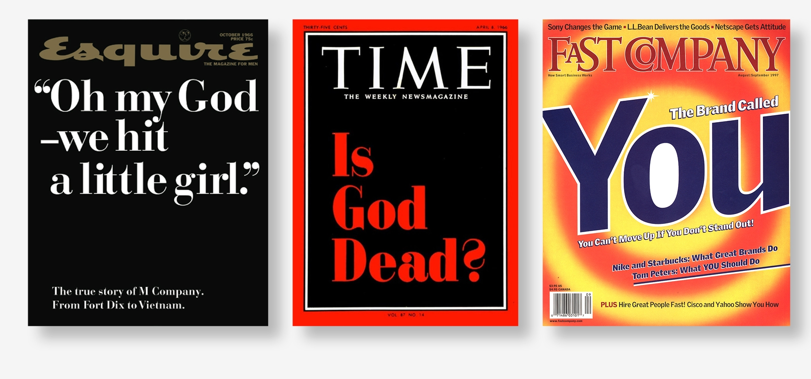 Of the 40 selected covers, only 3 featured purely typographic designs. That's our winner, far right.