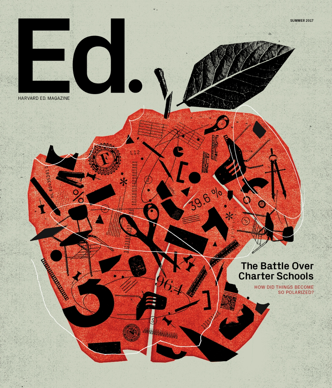 The cover of the Summer 2017 issue of Harvard Ed. (Illustration by  Mike McQuade )