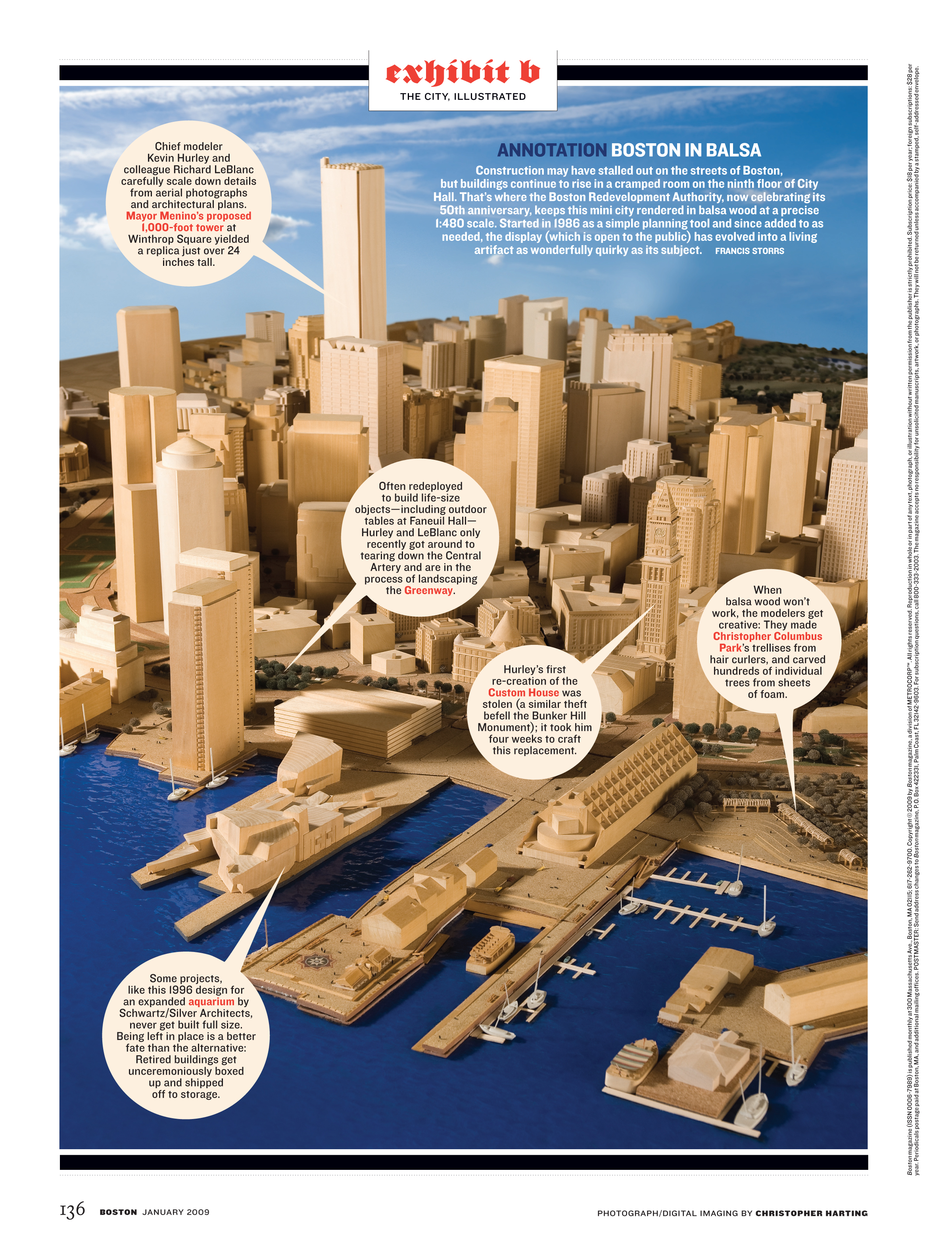 """""""Exhibit B"""", the last page of the book, features unique Boston artifacts."""