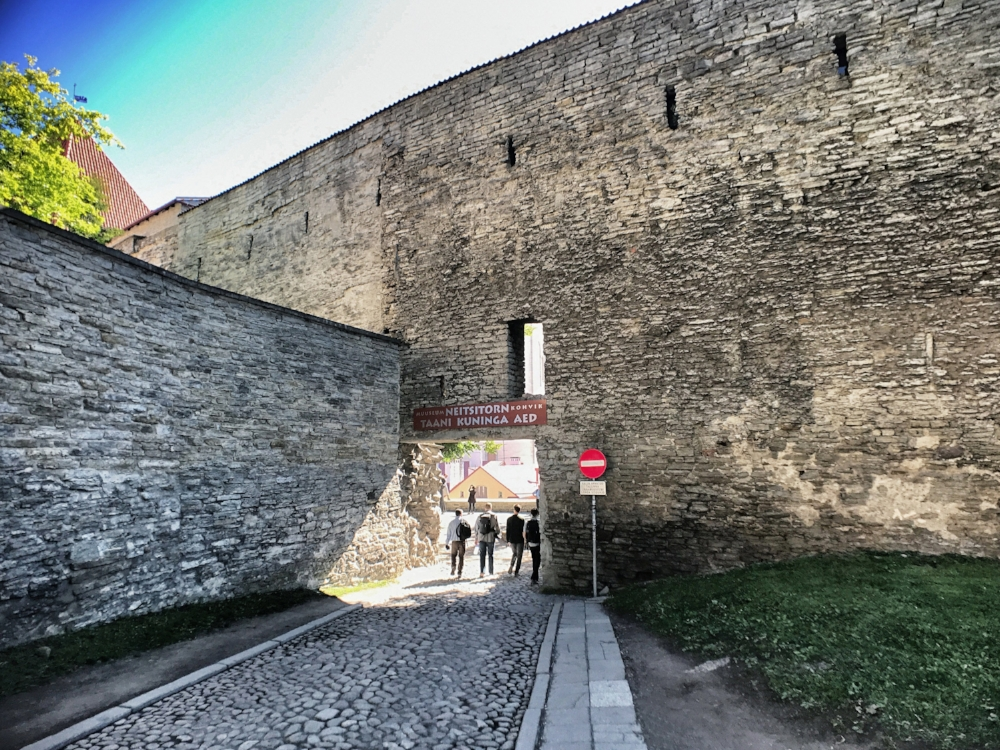 Tallinn's medieval defensive walls date back to 1265.