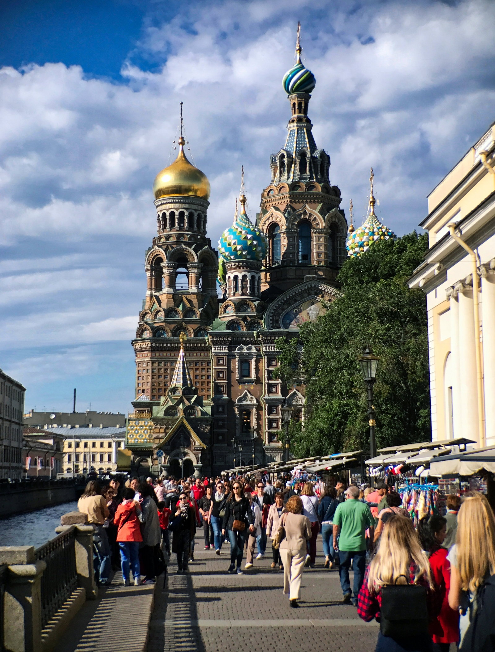 The Church of the Savior on Spilled Blood was built on the site where Emperor  Alexander II  was fatally wounded by political nihilists in 1881.