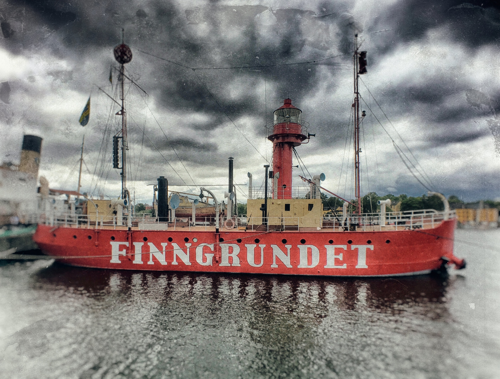 The  Finngrundet  lightvessel, built in 1903, and now a floating museum.