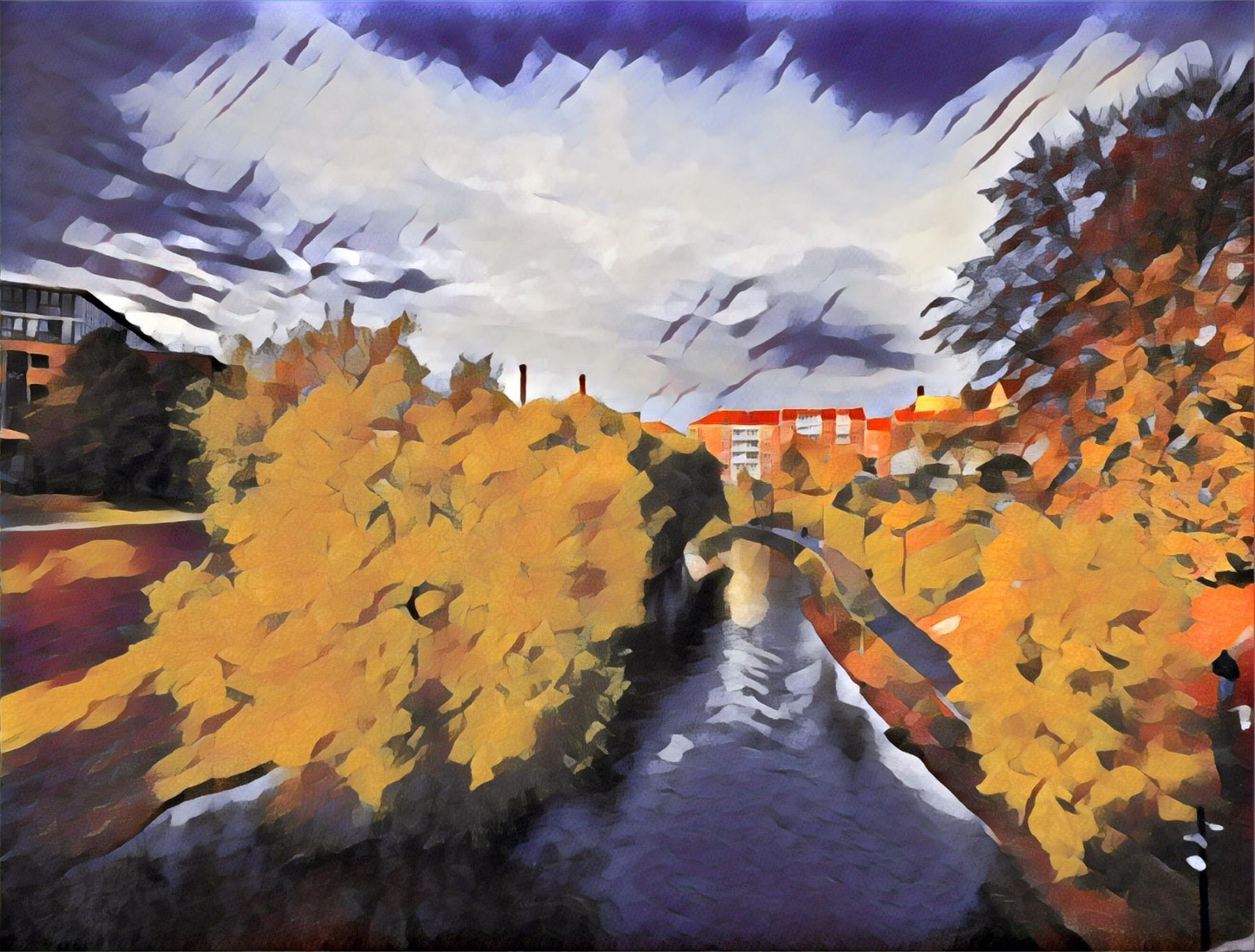 Akerselva River in Grünerløkka, Oslo