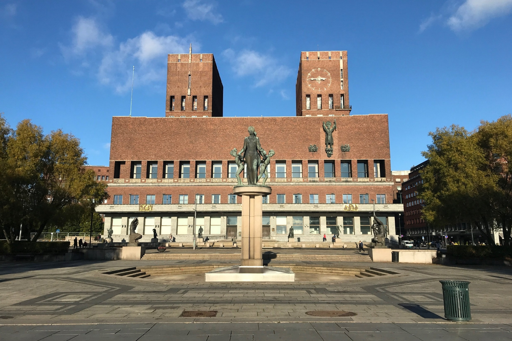 Oslo Rådhus (City Hall) is also the site of the annual Nobel Peace Prize ceremony